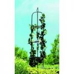 Easy Black Steel Garden Obelisk (1.9m) by Gardman