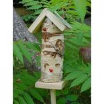 Silver Birch Ladybird Nesting Tower by Wildlife World