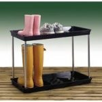 Black Plastic Boot Storage and Drying Tray (2 tier) by Garland
