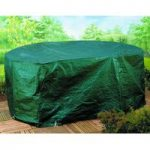 Large Oval Extending Patio Set Cover (2.6m) by Gardman