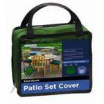 4 Seater Round Patio Furniture Set Cover (Premium) in Green by Gardman