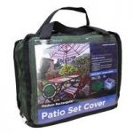 6 Seater Rectangular Patio Set Cover (Premium) in Green by Gardman