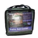 8 Seater Rectangular Patio Set Cover (Premium) in Green by Gardman
