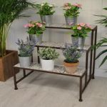 Garden Aged Ceramic Etagere 3 Tier Plant Stand by Fallen Fruits