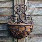 Cast Iron Hayrack Wall Planter by Fallen Fruits