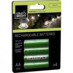 4 x AA Rechargeable Batteries for Solar Lights by Gardman