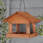 Wooden Self Assembly Mini Hanging Bird Table by Gardman