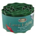 Green Plastic Lawn Edging Roll (12cm x 6m) by Kingfisher