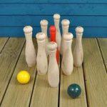 Wooden Skittles Garden Game Set by Kingfisher
