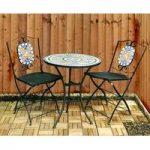 Mosaic Garden Bistro Set by Kingfisher