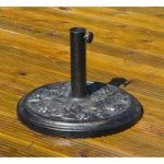 Cast Iron Style Metal Parasol Stand Base by Kingfisher
