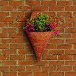 Rustic Torch Garden Wall Basket Planter by Gardman