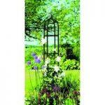 Gothic Black Steel Garden Obelisk (2m) by Gardman