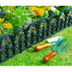 Pack of 6 Plastic Fleur de Lys Lawn Edging (32cm x 16.5cm) by Garland