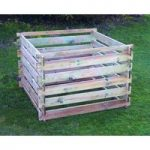 Wooden Slatted Composter Bin (Large) by Selections