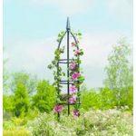 Traditional Black Steel Garden Obelisk (1.5m) by Gardman