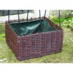 Wicker Surround for Jumbo Bean and Pea Patio Planter by Selections
