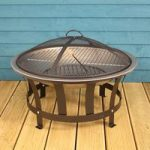 Outdoor Fire Pit with BBQ Grill and Safety Cover by Kingfisher