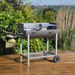 Steel Half Barrel Drum Barbecue with Adjustable Grills by Kingfisher