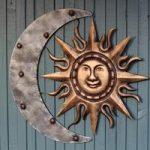 Aztec Sun & Moon Metal Wall Art by Gardman