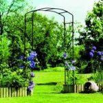 Gallic Black Metal Garden Arch by Gardman