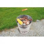 Portable Bucket Charcoal Barbecue by Fallen Fruits