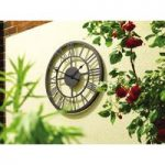 Outdoor Roman Numeral Wall Clock (34cm) by Gardman