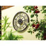 Outdoor Roman Numeral Wall Clock (34cm) by Gardman
