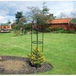 Black Steel Garden Obelisk (1.9m) by Kingfisher