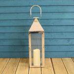 Silver Hampton Candle Lantern 55cm by Gardman