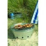 Portable Rock Bucket Charcoal Barbecue by Garden Trading