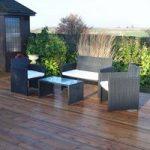 Rattan 4 Piece Garden Furniture Set by Kingfisher