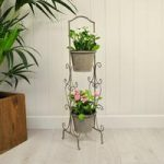 Metal Loire Design Two Tier Pot Planter by Gardman
