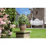 White Flower Effect Artificial Topiary Ball by Gardman