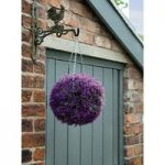 Pink Heather Artificial Topiary Ball by Gardman