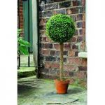 Leaf Effect Artificial Topiary Ball Tree (80cm) by Gardman