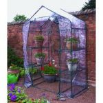 Walk-In Mini Greenhouse & Shelving by Kingfisher