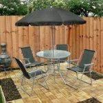 Metal and Textoline 6 Piece Garden Furniture Set by Kingfisher