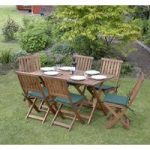 Concord 7 Piece Folding Wooden Garden Furniture Set by Kingfisher
