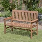 Wooden 2 Seater Garden Bench by Kingfisher
