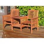 Wooden Companion Garden Love Duo Seat by Kingfisher