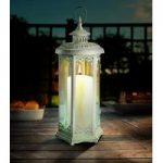 Cream Elinor Candle Lantern by Gardman