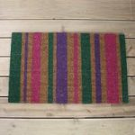 Fiesta Striped Design Coir Doormat by Gardman