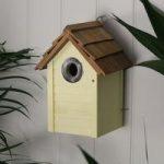 Yellow Beach Hut Bird Nest Box by Gardman