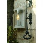 Astall Wall Light in Clay (Mains) by Garden Trading