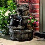 Cascading Barrels Outdoor Water Feature (Mains) by Gardman