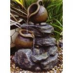 Pouring Pots & Stone Fountain Outdoor Water Feature (Mains) by Kingfisher