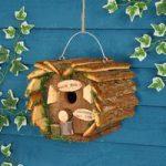 Love Birds Novelty Wooden Bird Hotel Nesting Station by Kingfisher