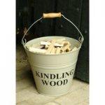 Kindling Wood Bucket – Clay by Garden Trading
