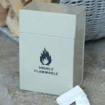 Enamel Metal Firelighter Storage Box – Clay by Garden Trading
